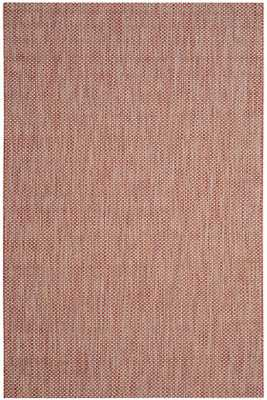 CANAL AREA RUG - 4'x5'7'' - Red/Beige - Home Decorators