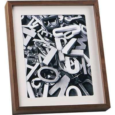 Walnut 8x10 picture frame - CB2