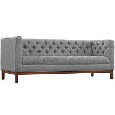 PANACHE FABRIC SOFA IN EXPECTATION GRAY - Modway Furniture