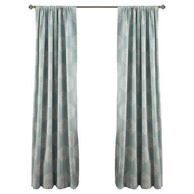 Sophie Blackout Curtain Panel/Set of 2 - Blue - Wayfair