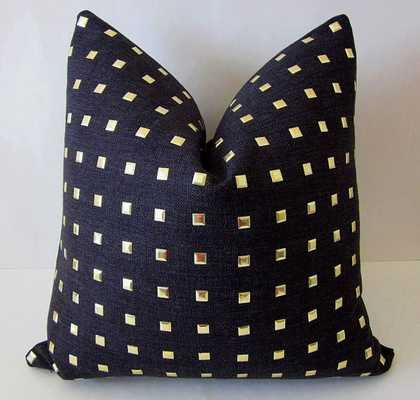 """Gold Studded Pillow Cover- 18"""" x 18""""- Black, Gold- Insert Sold Separately - Etsy"""