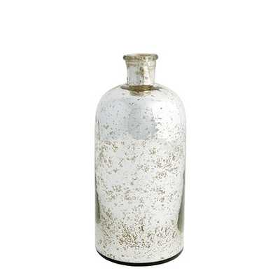 Antiqued Mercury Glass Demijohn, medium - Ballard Designs