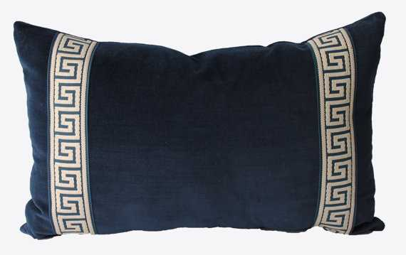 Decorative Greek Key Chinoiserie Pillow - 12x20, No Insert - Etsy