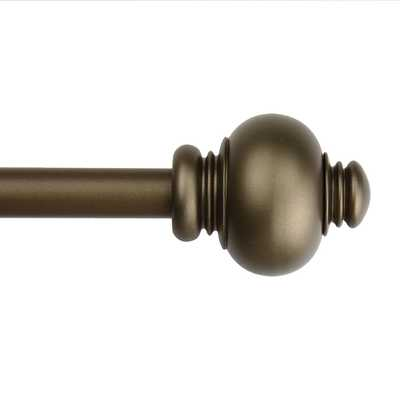 Classic Adjustable  Button Curtain Rod Set - Overstock