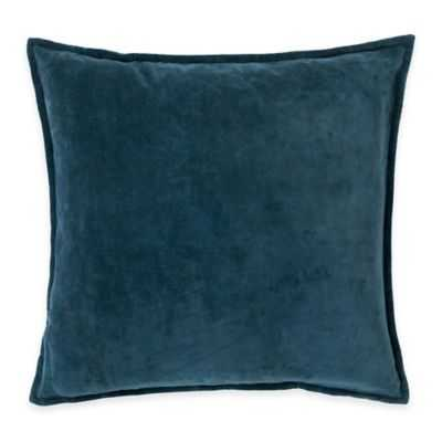 Surya Velizh 20-Inch Square Throw Pillow in Teal, Polyester filled - Bed Bath & Beyond