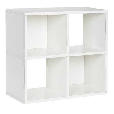 Way Basics 4 Cubby Bookcase, Stackable Organizer and Eco Storage Shelf - Target