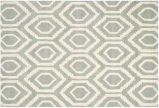 Danny Rug, Gray/Ivory - 6' x 9' - One Kings Lane