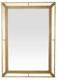 Paneled Frame Mirror, Gold - One Kings Lane