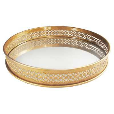 Celeste Mirrored Tray - Wayfair