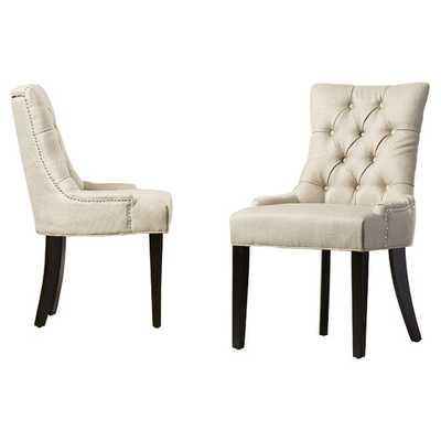 Reynesford Side Chair, Set of 2 - Beige Fabric - AllModern