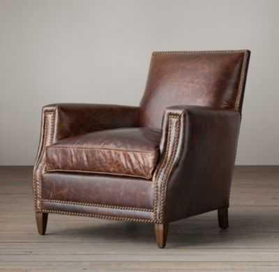 Marcel Leather Club Chair - Italian Brompton, Cocoa - RH