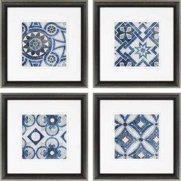 "PERSIAN JEWELS FRAMED WALL ART - SET OF 4 (23"" square x 2""D) - Home Decorators"