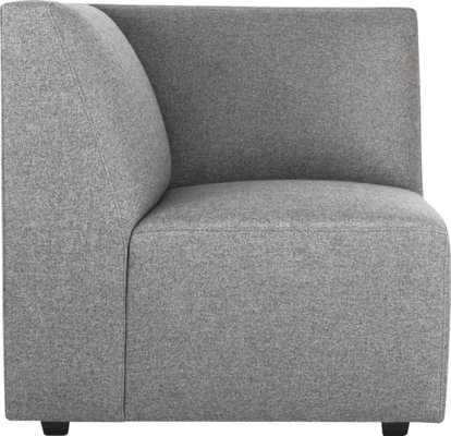 Layne corner sectional chair - Taylor felt grey - CB2