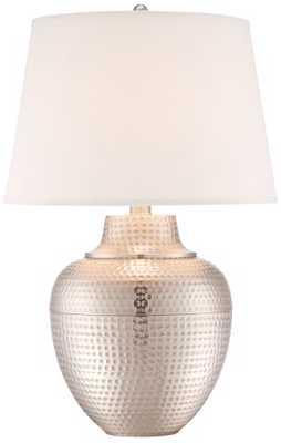 Brighton Hammered Nickel Table Lamp - Lamps Plus