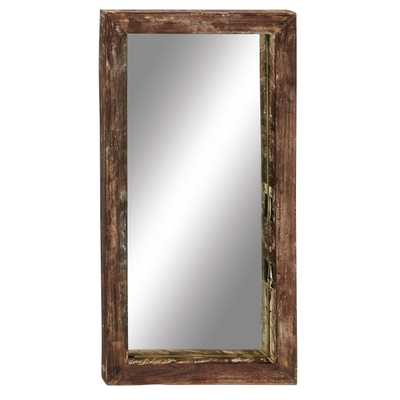 Antique Like Wood Teak Wall Mirror - Wayfair