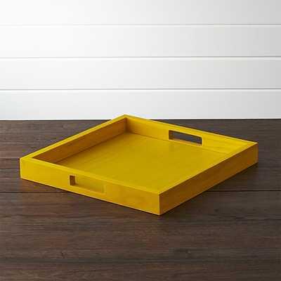 Zuma Tray - Yellow - Crate and Barrel