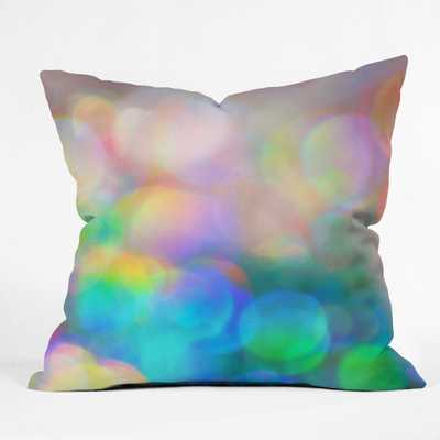 """COLOR ME HAPPY Throw Pillow - 16"""" x 16"""" with insert - Wander Print Co."""