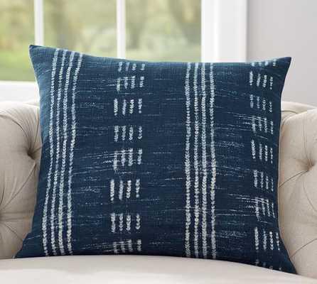 Shibori Dot Print Pillow Cover, Indigo - 24x24, Insert Sold Separately - Pottery Barn