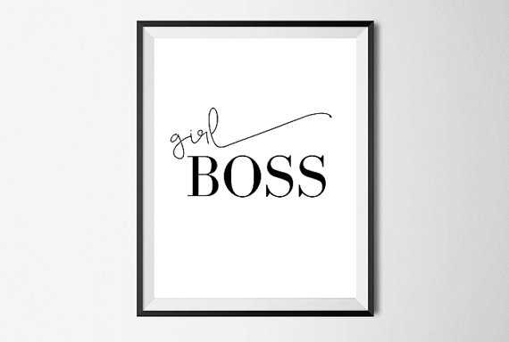 Girl Boss, Motivational Wall Art Print - Etsy