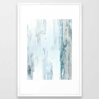 "Rain Drops Art Print - 26"" x 38"" - Vector White Frame - Society6"