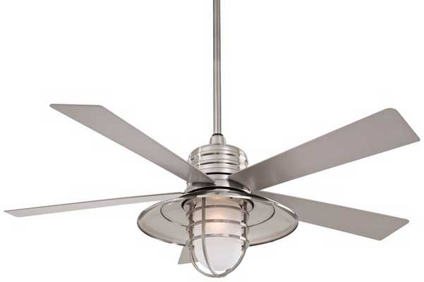 Minka Aire Rainman Brushed Nickel Ceiling Fan - Lamps Plus