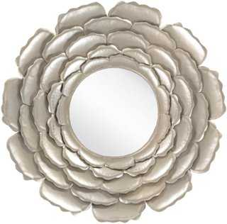 Posey Wall Mirror, Champagne - One Kings Lane