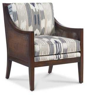 Windwood Chair, Smoke/Slate Ikat - One Kings Lane