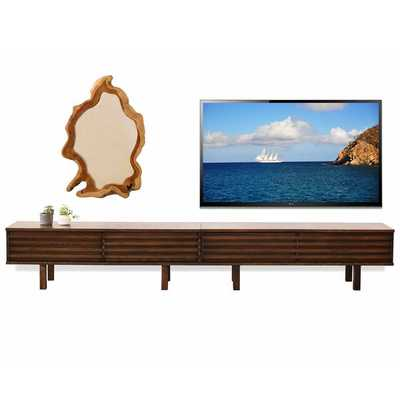 LOW TV STAND MODERN PROFILE - LOTUS - RUSSET BROWN - woodwaves.com