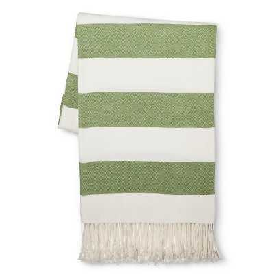 Stripe Throw Blanket - Country Green - Target