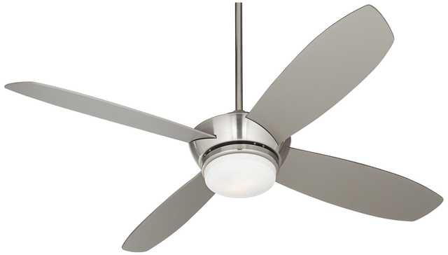 "52"" Casa Vieja® Veridian Brushed Nickel Ceiling Fan - Lamps Plus"