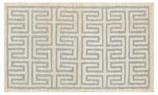 Amaia Jute Rug, Neutral/Green - One Kings Lane