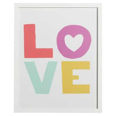 """Love Multi-Colored Gallery Frame- 16"""" wide x 20"""" high - Pottery Barn Teen"""