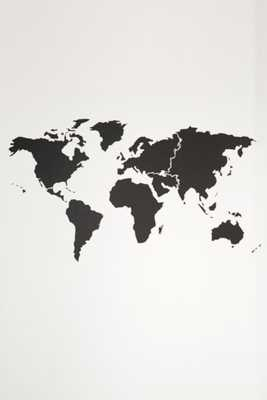 Walls Need Love World Map Wall Decal - Black - Urban Outfitters