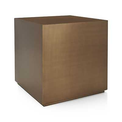 Patina Brass Cube - Crate and Barrel