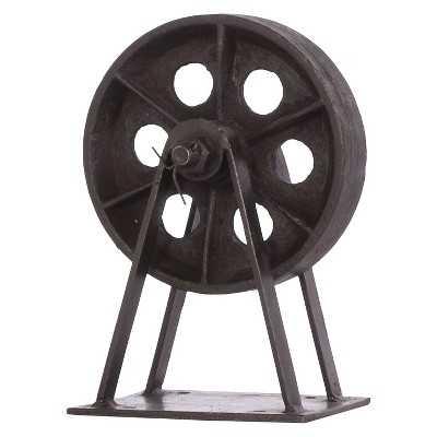 Decorative Iron Lincoln Mill Wheel - Target