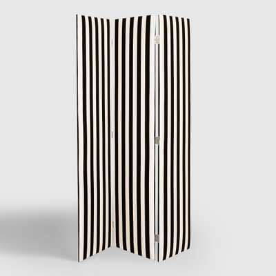 Canopy Stripe Upholstered Screen - World Market/Cost Plus