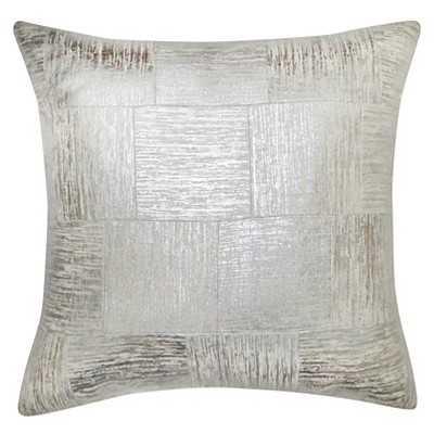 "Thresholdâ""¢ Silver Cross-Hatch Pillow 18"" - Polyester fill - Target"