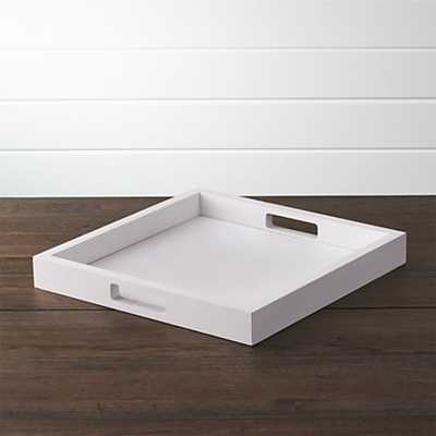 Zuma White Tray - Crate and Barrel