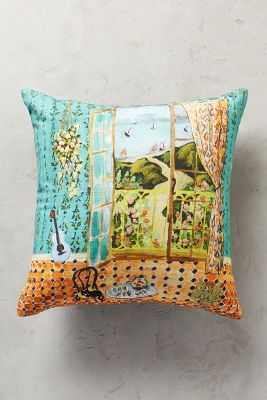 "Post-Impressionism Turquoise 18"" x 18"" Pillow - polyfill - Anthropologie"