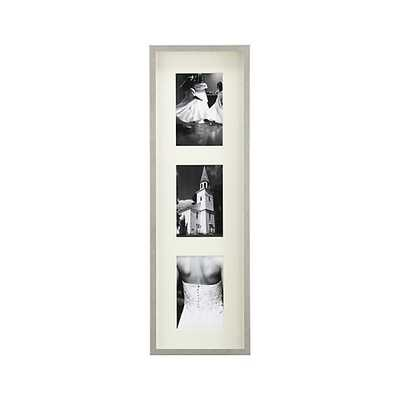 Brushed Silver Triple 4x6 Wall Frame - Crate and Barrel