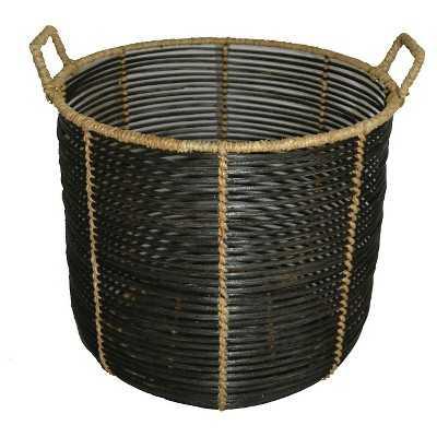 Zion Rattan Bulging Storage Basket - Target