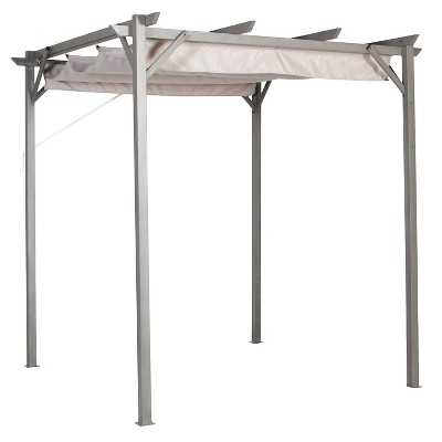 Pacific Casual 8' x 8' Steel Pergola with Retractable Top - Target
