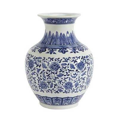 Blue & White Porcelain Vases-curved - Ballard Designs