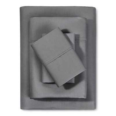 Performance 400 Thread Count Sheet Set - Solid - Dark Grey - King - Target