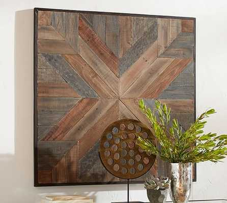 Planked Quilt Square Wall Art - Pottery Barn
