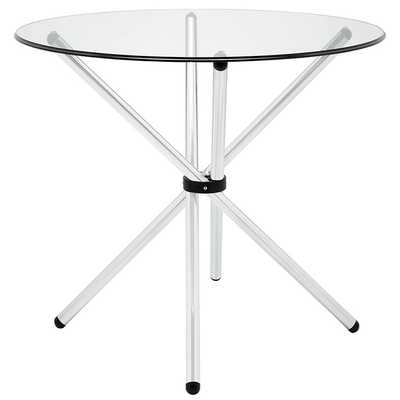 BATON ROUND DINING TABLE IN CLEAR - Modway Furniture