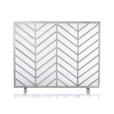 Chevron Fireplace Screen - Crate and Barrel