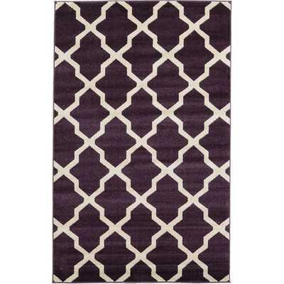 Trellis Purple Area Rug - AllModern