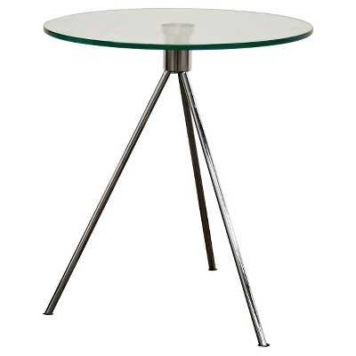 Triplet Round Glass Top End Table with Tripod Base - Target