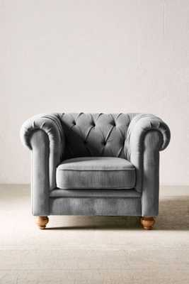 Sofia Chesterfield Chair - Grey - Urban Outfitters
